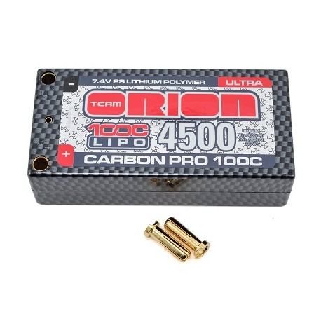 Batteria TeamOrion LiPo CarbonPro Shorty Ultra 4500Mah 7,4v 100C