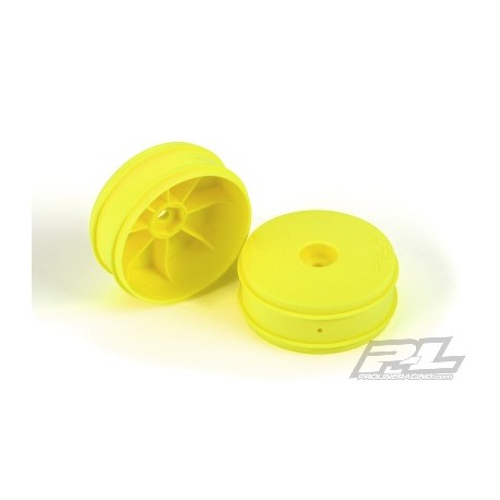 Cerchi PL Velocity VTR 2.4 ant. gialli 1/10 Buggy Hex 12mm (2pz)