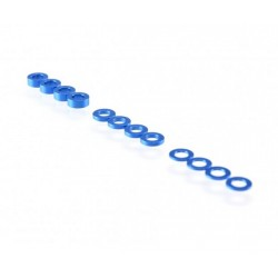 Rondelle 3mm in ergal blu 0,5mm-1.0mm-2.0mm Revolution Design (12pz)