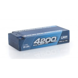Batteria LRP LiPo Real Shorty LCG P5 HV 4200Mah 7,6v 120/60C Graphene