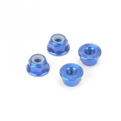 Dado autobloccante flangiato in ergal M4 Blu Monkey King (4pz)