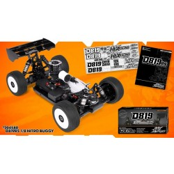 HB Racing E819RS 1/8 Buggy 4wd  Nitro Kit